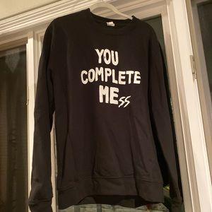 luke hemmings you complete mess sweatshirt